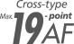19 punkters autofokussystem